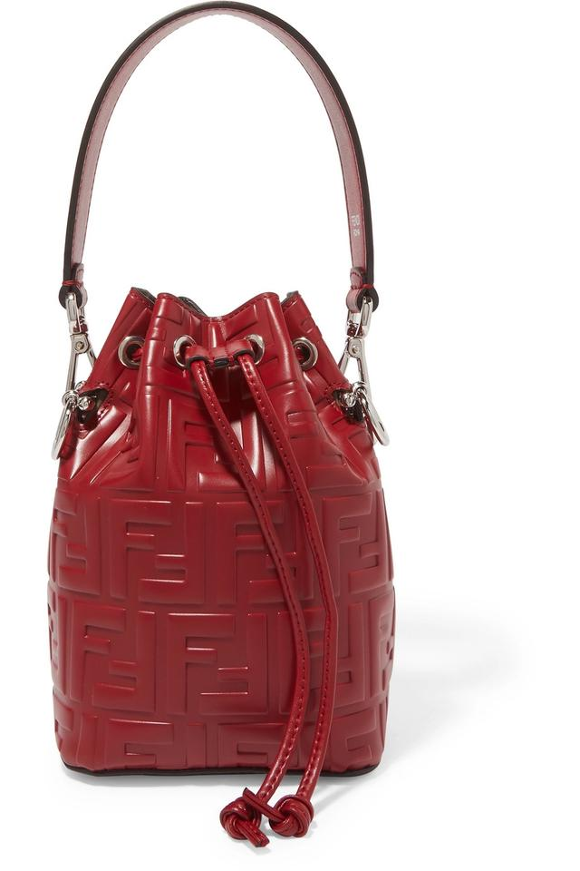 9f2430c69cb Fendi Bucket Ff Mon Tresor Mini Red Shoulder Bag - Tradesy