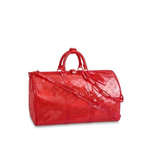 Louis Vuitton Virgil Monogramouflage Prism Red Travel Bag