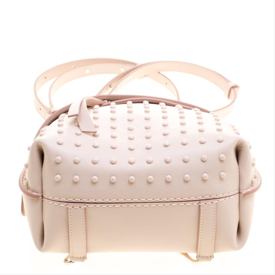 5254ca19234 Tod's Blush Mini Wave Top Handle Pink Leather Backpack - Tradesy