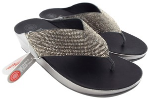 2d9d6fbb4 FitFlop Crystall Strobe Luxe Lulu Silver Sandals