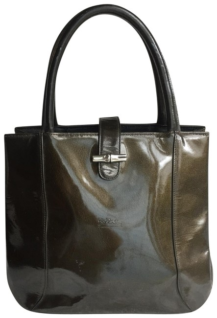 Item - Roseau Tote Green Patent Leather Satchel