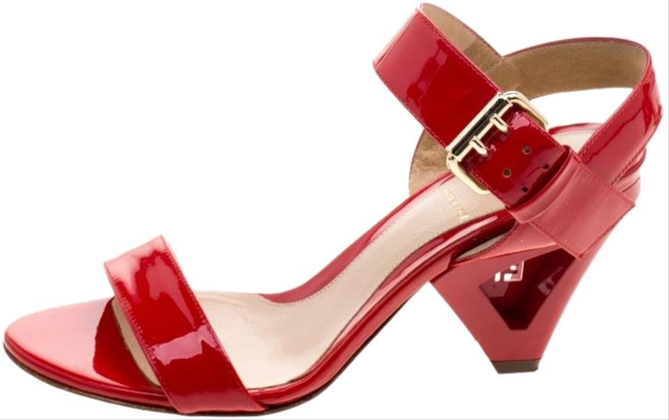 b1091522 Fendi Red Patent Leather Ankle Strap Sandals Size EU 36 (Approx. US 6)  Regular (M, B) 56% off retail