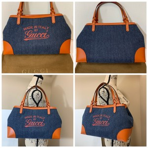 Gucci Tote in Blue/Orange