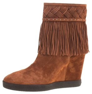 Le Silla Suede Leather Brown Boots