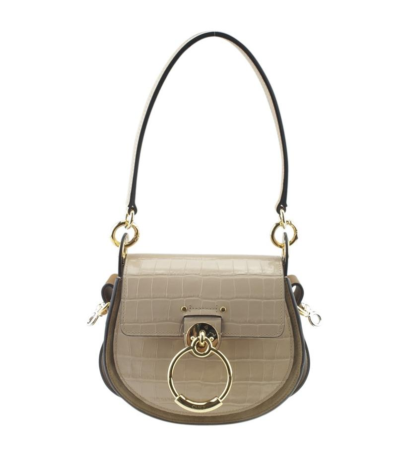 f545f3c156302c Chloé Small Tess Embossed Croc Cement Pink (168727) Beige Leather ...