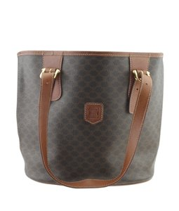 Céline Canvas Tote in Brown