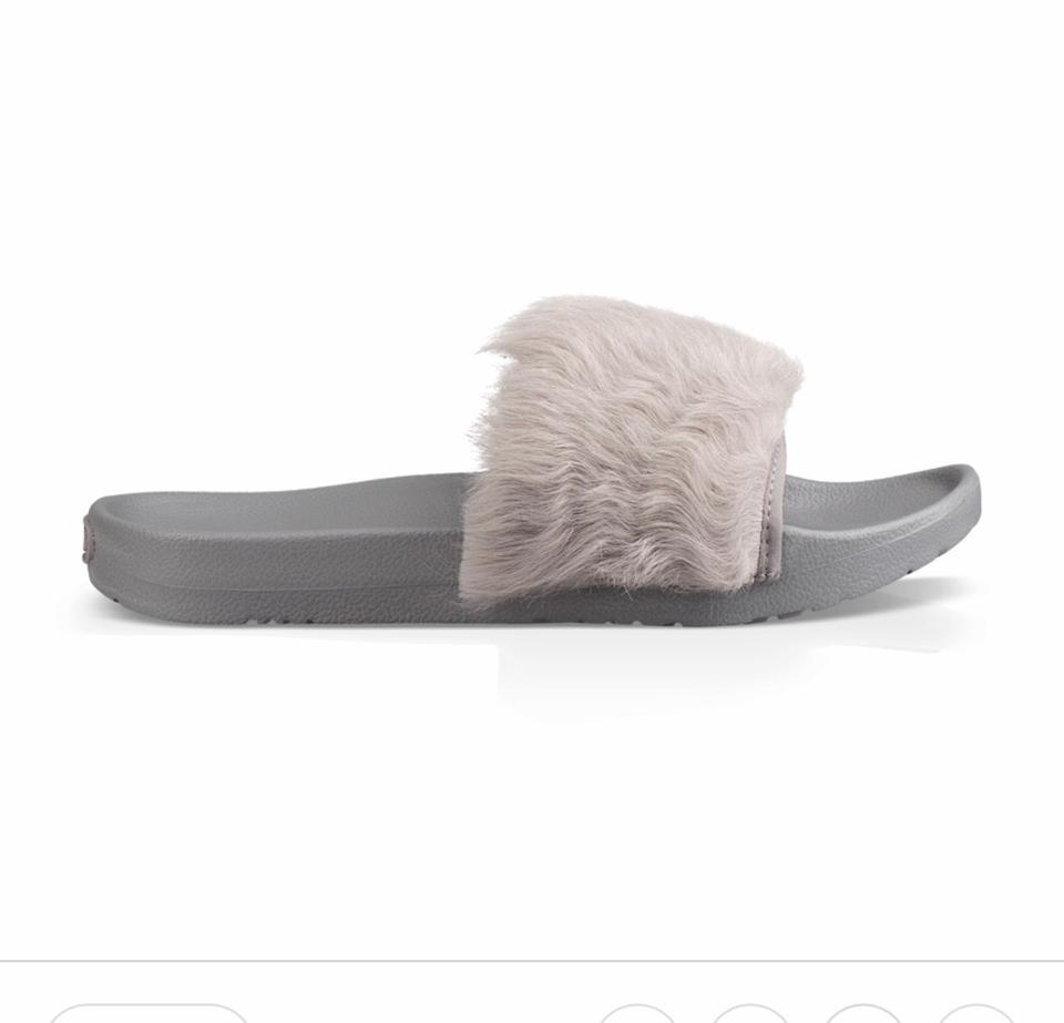 9da5fe044a2 UGG Australia Seal Gray Royale Fur Slides Sandals Size US 7 Regular (M, B)  48% off retail