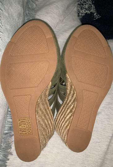 Tory Burch Olive Green Wedges Image 4