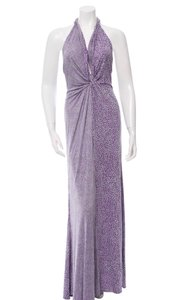 GREY and Purple Maxi Dress by ISSA London
