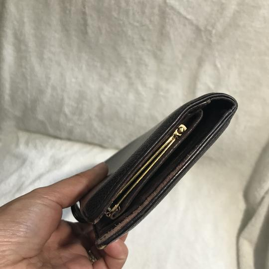 Chanel Auth CHANEL Coco Mark Caviar Skin Long Wallet Image 4