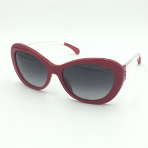 26726fdf9b114 Chanel Butterfly Red Clear Gray Gradient Sunglasses 5264 c.1343 S6