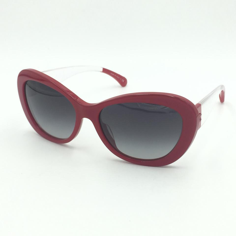 4de418dae3 Chanel Butterfly Red Clear Gray Gradient Sunglasses 5264 c.1343 S6 Image 0  ...