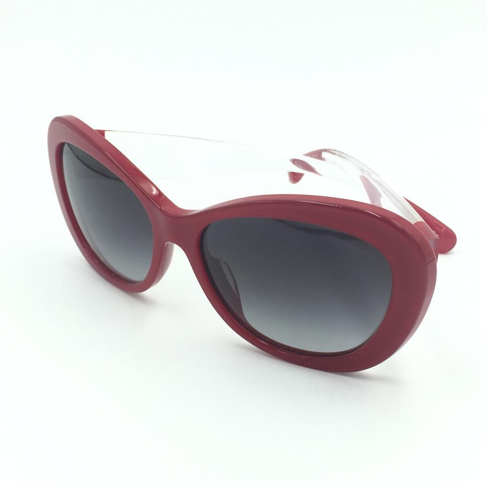 9f320798ea Chanel Butterfly Red Clear Gray Gradient Sunglasses 5264 c.1343 S6 Image 8.  123456789