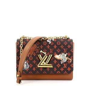 Louis Vuitton Canvas Handbag brown Clutch