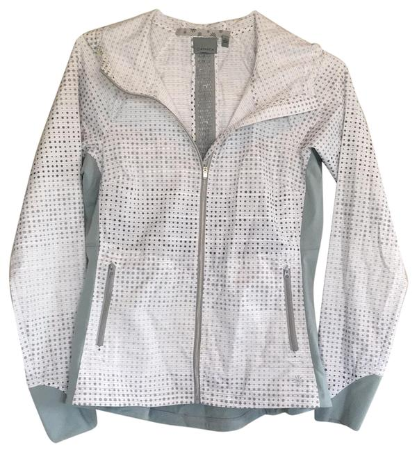 Item - Gray/White Zip-front Activewear Outerwear Size 4 (S)