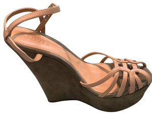SCHUTZ green and nude Wedges