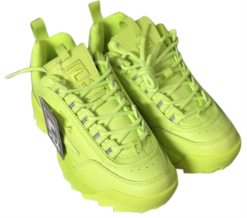 0a95f055 Fila Neon Lime Green Disruptor Ii Premium Sneakers Size US 7 Regular (M, B)