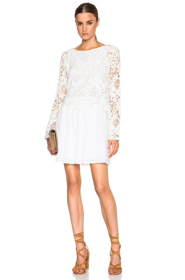 Lace Top Flare Casual Dress