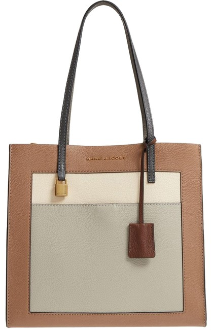Item - Gazelle The Color Blocked Grind Brown Multi Leather Tote