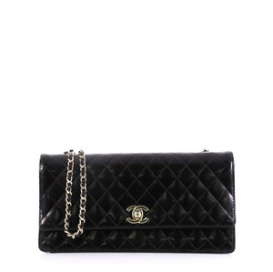51fad83d624b Chanel Calfskin Shoulder Bag · Chanel. Cc Chain Flap Quilted Long Black  Calfskin Leather ...