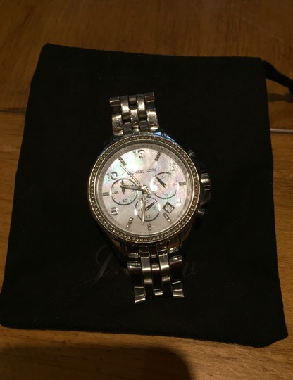 Michael Kors Ladies Silver Chronograph Watch Image 2