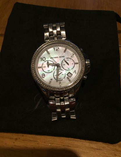Michael Kors Ladies Silver Chronograph Watch Image 3