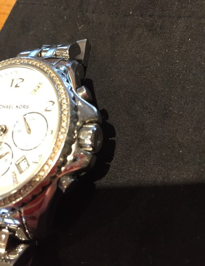 Michael Kors Ladies Silver Chronograph Watch Image 5