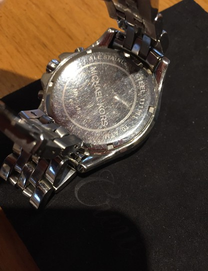 Michael Kors Ladies Silver Chronograph Watch Image 6
