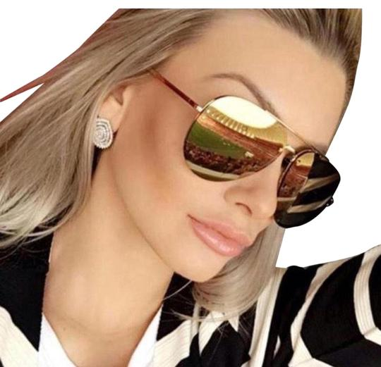 27757edc2112 Céline Celine Gold Bronze Mirror Aviator Cl41391 Sunglasses Image 0 ...