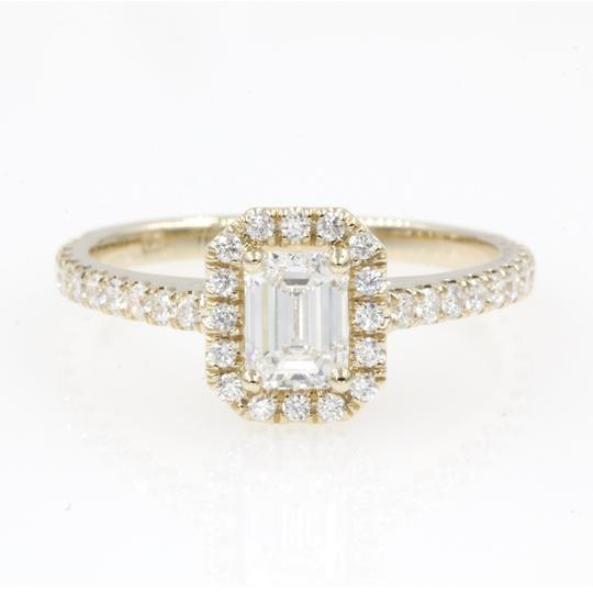 Preload https://img-static.tradesy.com/item/25148740/14k-yellow-gold-89-carat-emerald-cut-halo-with-round-engagement-ring-0-0-540-540.jpg
