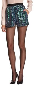 BCBGeneration Sequin Translucent Mini/Short Shorts Green