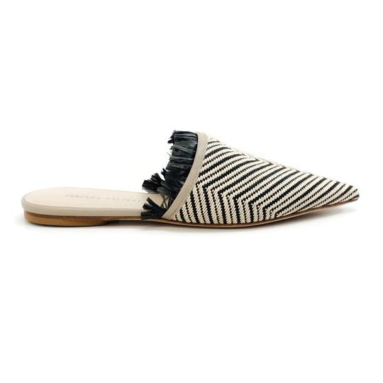 Fabiana Filippi Black / Natural Mules Image 1