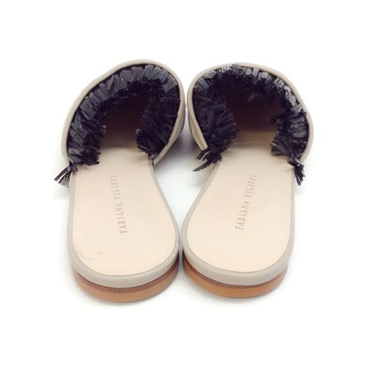 Fabiana Filippi Black / Natural Mules Image 7