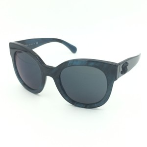 3952a3d412d0 Chanel Pantos Dark Blue Marble Mirrored Sunglasses 5358 c.1570/Z6
