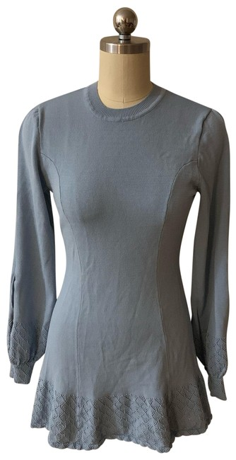 Item - Blue Claire In Gray Short Casual Dress Size 2 (XS)