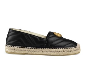 Gucci Gg Espadrille Double G Black Platforms