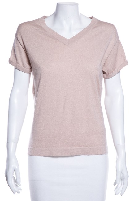 Preload https://img-static.tradesy.com/item/25148981/brunello-cucinelli-pink-knit-tee-shirt-size-8-m-0-0-650-650.jpg