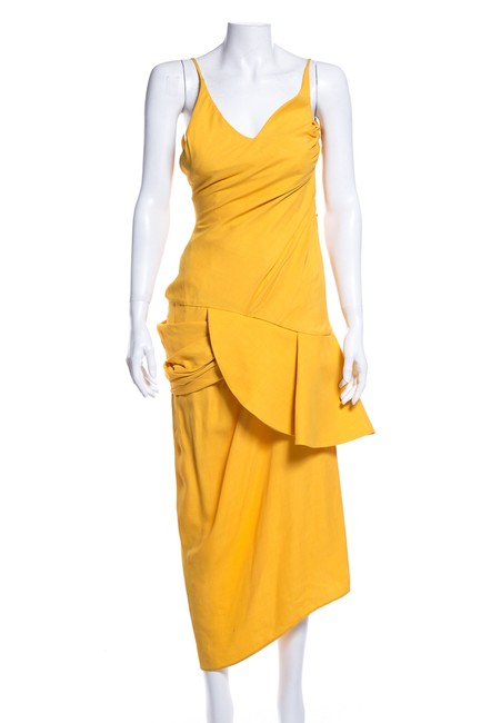 Preload https://img-static.tradesy.com/item/25149063/jacquemus-yellow-peplum-detail-v-neck-mid-length-cocktail-dress-size-0-xs-0-0-650-650.jpg