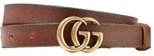 Gucci GUCCI GG LOGO Leather belt SIZE 70 - item med img