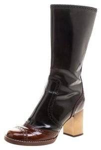 Dolce&Gabbana Two-tone Leather Black Boots
