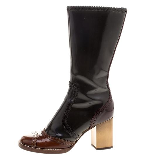 Dolce&Gabbana Two-tone Leather Black Boots Image 1