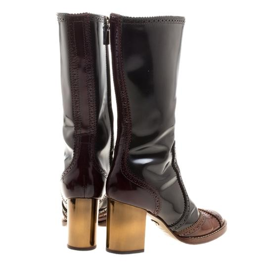 Dolce&Gabbana Two-tone Leather Black Boots Image 3