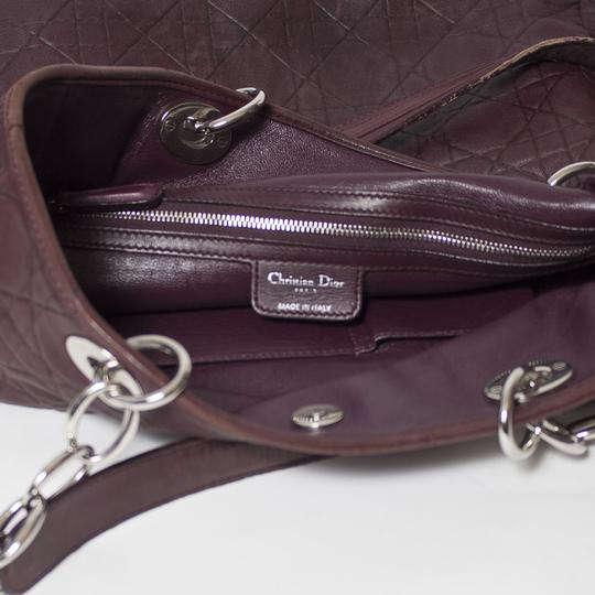 Dior Cannage Quilted Lady Tote in Burgundy Image 10