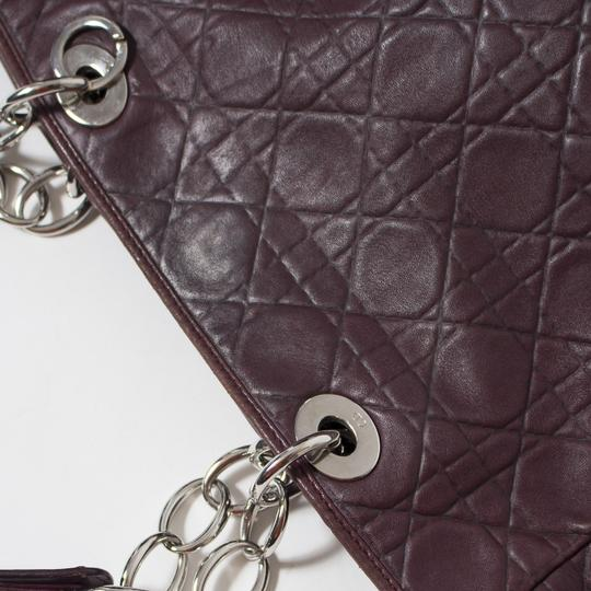 Dior Cannage Quilted Lady Tote in Burgundy Image 8