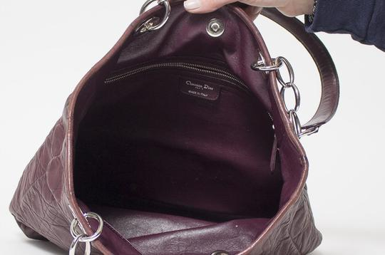 Dior Cannage Quilted Lady Tote in Burgundy Image 9