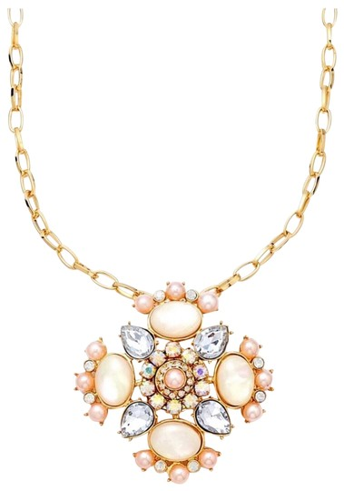 Preload https://img-static.tradesy.com/item/25149236/guess-gold-pink-pave-crystal-stone-statement-necklace-0-1-540-540.jpg
