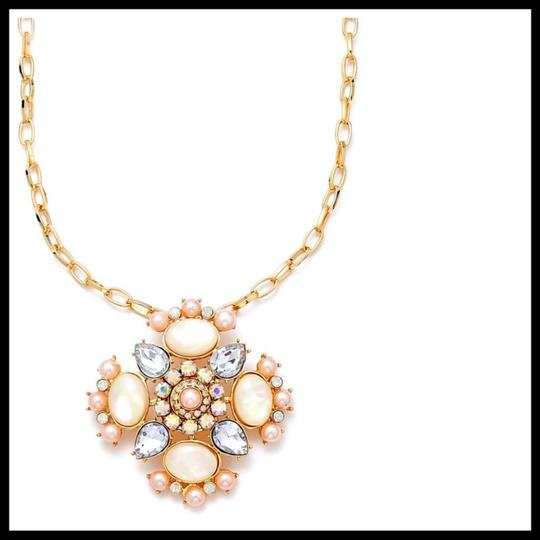Guess PAVE JEWELED CRYSTAL STONE STATEMENT NECKLACE Image 1