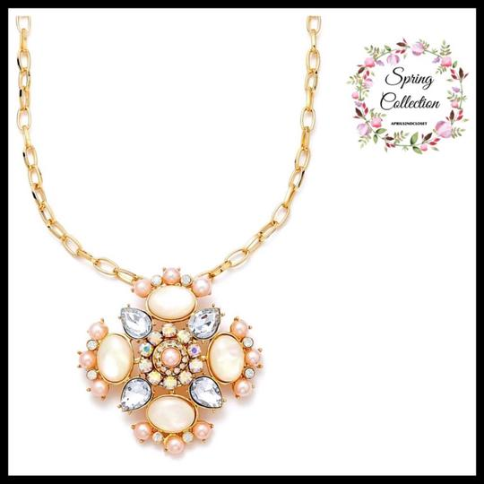 Guess PAVE JEWELED CRYSTAL STONE STATEMENT NECKLACE Image 2