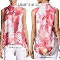 Lafayette 148 New York Top Pink, white Image 1
