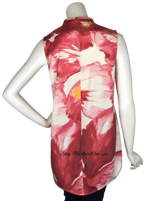Lafayette 148 New York Top Pink, white Image 4